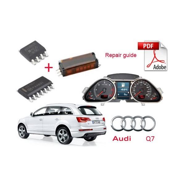 Audi Q7 Dashboard Digital Instruments Cluster Repair