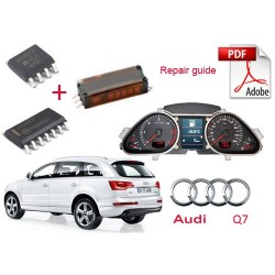 Audi Q7 instrument cluster speedometer dashboard repair